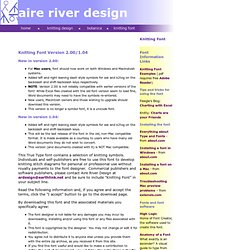 Aire River Knitting Font