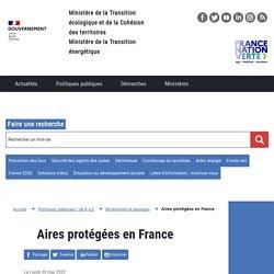Aires protégées en France