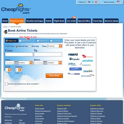 From a blog pearltrees for Best website to find cheap flights
