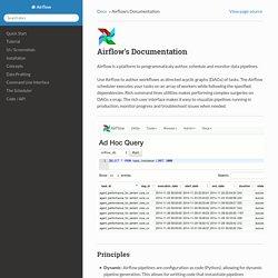 Airflow's Documentation — Airflow 1.0.0 documentation