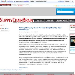 Airfreight Supply Chain Process 'Simplified' by New Technology