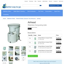 Airhead Marine Composting Toilet. Compact, odourless system.