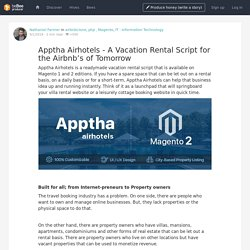 Apptha Airhotels - A Vacation Rental Script for the Airbnb's of Tomorrow
