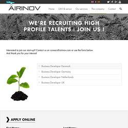 Airinov recrute de nouveaux talents