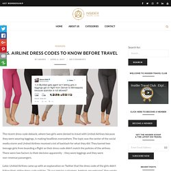 U.S. Airline Dress Codes To Know Before Travel