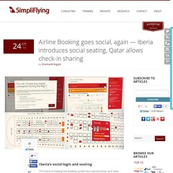 Airline Booking - social seating