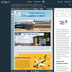 Airline Deliveries by Expert UCH Logistics in UK