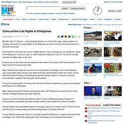 China airline cuts flights to Philippines - Xinhua | English.news.cn