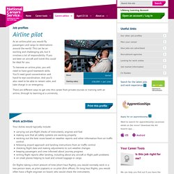 Airline pilot Job Information