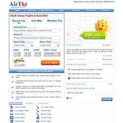 Cheap Airline Tickets, Cheap Flights,Flight Tickets & Airfare