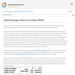 A4A Passenger Airline Cost Index (PACI)