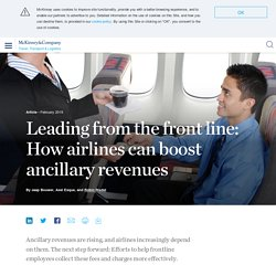 Leading from the front line: How airlines can boost ancillary revenues