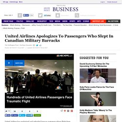 United Airlines Apologizes To Passengers Who Slept In Canadian Military Barracks