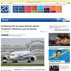 Un Boeing 787 de Japan Airlines atterrit d'urgence à Honolulu, pas de blessés