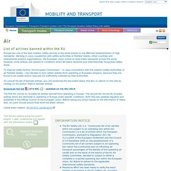 Transport: List of airlines banned within the EU - European commission
