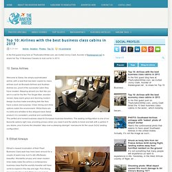 Top 10: Airlines with the best business class cabins in 2013 ~ The Aviation Writer