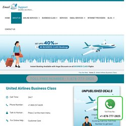 United Airlines Business Class Flights – 40% off On Booking