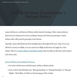 LATAM Airlines Cancellation