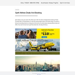 Spirit Airlines Deals - cheapflightinfo