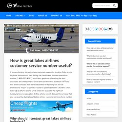 Great Lakes airlines customer service phone number