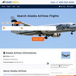 Alaska Airlines - Alaska Airlines Flights - Cheap Flights - FareCopy.com