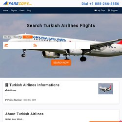 Turkish Airlines - Cheap Flights - Cheap Airlines Tickets - FareCopy.com