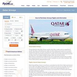 Qatar Airlines Flights, Cheap Flights to Qatar, Airline Tickets to Qatar
