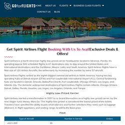 Get Instant Spirit Airlines Flight Booking Services with us.