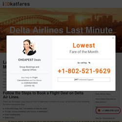 Delta Airlines Last Minute Flights Deals : Lookatfares