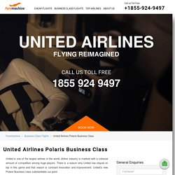 Book United Airlines Polaris Business Class