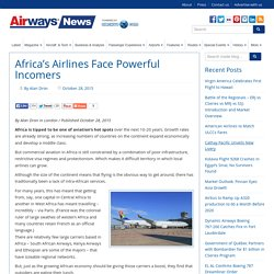Africa's Airlines Face Powerful Incomers