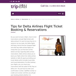 Delta Airlines Reservations +1-855-653-0624
