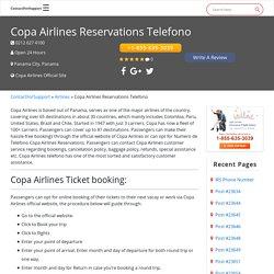 Copa Airlines Reservations +1-855-635-3039 Numero De Telefono