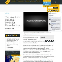 Top 10 Airlines on Social Media for December 2014 – Skift
