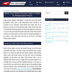 Book Your Delta Airlines Flight Tickets At Reasonable Prices
