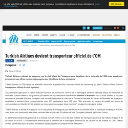 Turkish Airlines devient transporteur officiel de l'OM