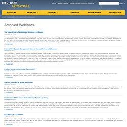 AirMagnet Archived Webinars