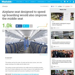 Airplane seat designed to speed up boarding would also improve the middle seat