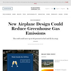New Airplane Design Could Reduce Greenhouse Gas Emissions