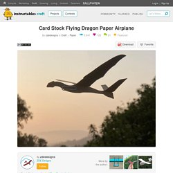 Card Stock Flying Dragon Paper Airplane : 6 Steps (with Pictures) - Instructables