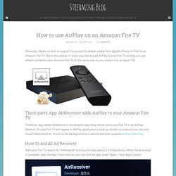How to use AirPlay on an Amazon Fire TV