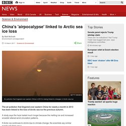 *****Teleconnections: China's 'airpocalypse' linked to Arctic sea ice loss