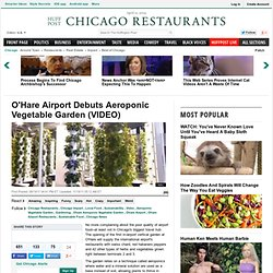 O'Hare Airport Debuts Aeroponic Vegetable Garden