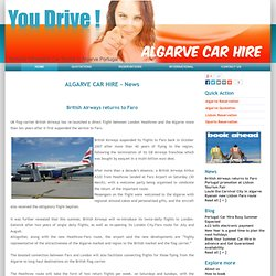 Faro airport Car Hire Algarve Portugal