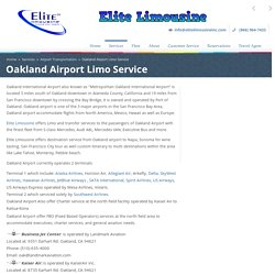 Oakland Airport Limo Service