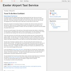 Exeter Airport Taxi Service: Travel To Be More Confidant