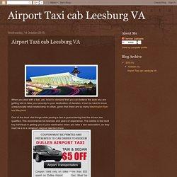 Airport Taxi cab Leesburg VA