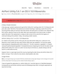 AirPort Utility 5.6.1 on OS X 10.9 Mavericks