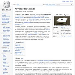 AirPort Time Capsule