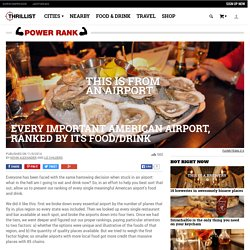 Best Airports For Food and Drink - Best American Airports For Eating